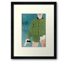 Walter White (distressed) Framed Print