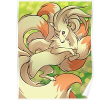 Fluffy Ninetales Poster