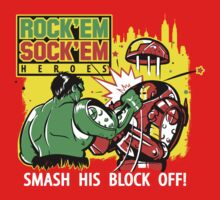ROCK EM' SOCK EM' HEROES by Creative Outpouring
