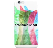 pro feminist cat iPhone Case/Skin
