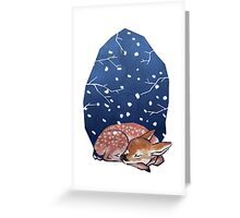 Sleeping Fawn Greeting Card