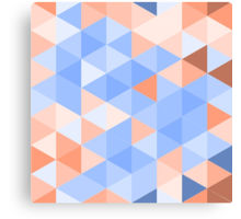 Blue-brown triangles pattern Canvas Print