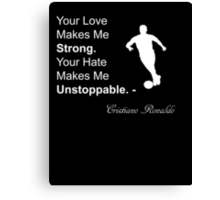 Cristiano Ronaldo Quote Canvas Print
