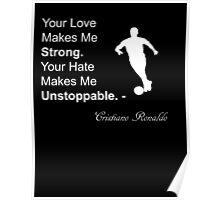 Cristiano Ronaldo Quote Poster