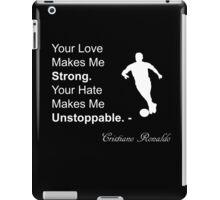 Cristiano Ronaldo Quote iPad Case/Skin