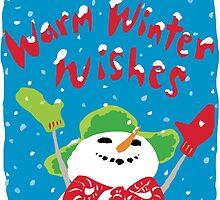 Snowboy's warm winter wishes by Wendy Wahman