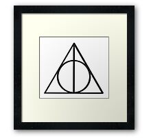 Harry Potter Deathly Hallows symbol Framed Print