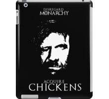 Disregard Monarchy Acquire Chickens - The Hound T-Shirt iPad Case/Skin