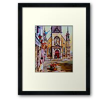 CANADIAN URBAN PAINTINGS MONTREAL SCENES BY CANADIAN ARTIST CAROLE SPANDAU Framed Print