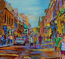 PAINTINGS OF THE OLD CITY OF MONTREAL CANADIAN URBAN SCENES BY CANADIAN ARTIST CAROLE SPANDAU by Carole  Spandau
