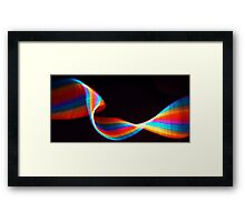 #128   Rainbow Ribbon Framed Print