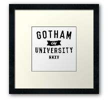 Gotham City University Framed Print