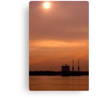 Mayflower Park Sunset (1) Canvas Print