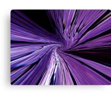 #134           Purple Warp Canvas Print