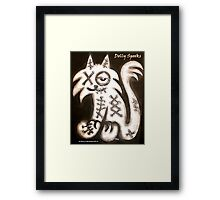 Smug Cat Framed Print