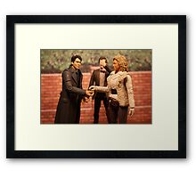 When Captain Jack Met River Song Framed Print