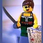 Custom Pirate Girl Minifigure with Treasure Map by Chillee