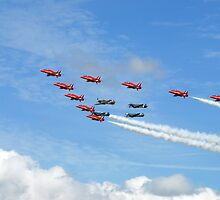 spitfires and red arrows by paul777
