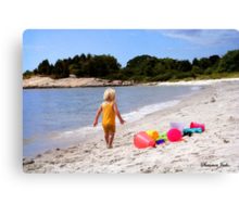 Just a Beach Boy and His Toys Canvas Print