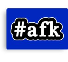 AFK - Hashtag - Black & White Canvas Print