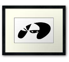 Ninja Emblem Framed Print