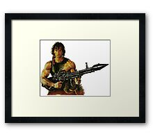 Rambo. Ready to order. Framed Print