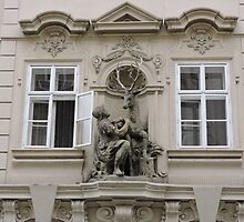 The golden Stag, Prague, Czech Republic by Margaret  Hyde