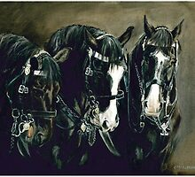 Three Cavalry Blacks by CharlotteMcA