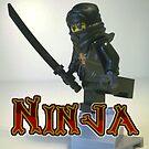 Black Ninja Custom Minifigure by Chillee