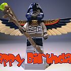 Flying Mummy Minifigure with Wings & Custom Magical Staff by Customize My Minifig