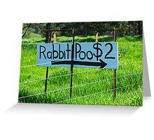 Rabbit Poo Greeting Card