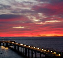 Sunrise Lorne Pier,Great Ocean Rd by Joe Mortelliti