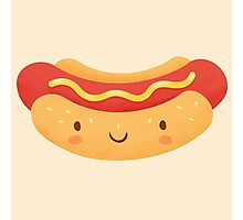 Happy Hot Dog Photographic Print