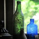 Old Bottles in an Artist's Studio Window by SummerJade
