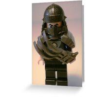 TMNT Teenage Mutant Ninja Turtles Master Shredder Custom Minifig Greeting Card