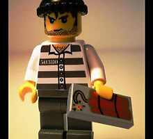 Convict Prisoner City Minifigure with Dynamite Tile by Chillee