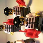 Convict Prisoner City Minifigure with Dynamite Sticks by Chillee