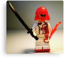 Red Dragon Japanese Samurai Warrior Custom Minifig Canvas Print