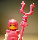 Pink Chinese Hero Warrior Custom Minifig by Chillee