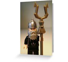 Mongolian Warrior Chief Custom Minifig Greeting Card