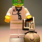 Doctor Toxic with Chainsaw, Custom Minifigure by Customize My Minifig