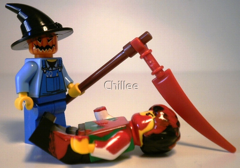 Scary Halloween Scarecrow Custom Minifigure by Customize My Minifig