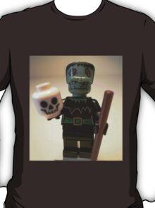 Frankensteins Monster Custom Minifigure with Skull T-Shirt