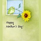 Sunflower Bird Mother's Day by mrana