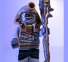 Mummy with Gold Head Gear with Custom Magical Jewelled Staff by Chillee