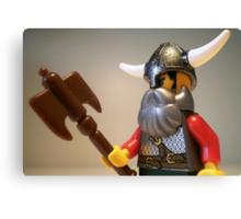 Viking Warrior with Custom Battle Axe Canvas Print