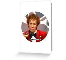 JOHNNY HATES IT Greeting Card