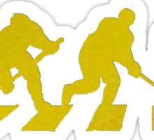 smart crossing (hockey road golden) Sticker
