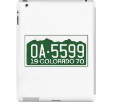 Vanishing Point License Plate iPad Case/Skin