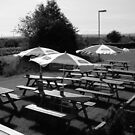 Beer Garden. by Michael Rowlands
